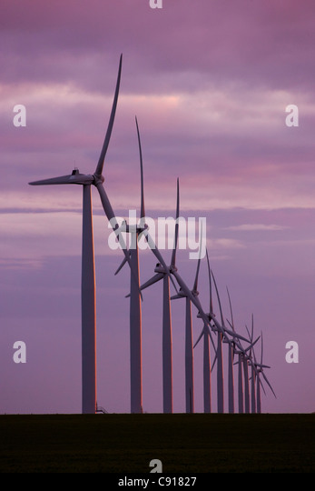 Wind turbines Fleurieu Peninsula South Australia - Stock Image