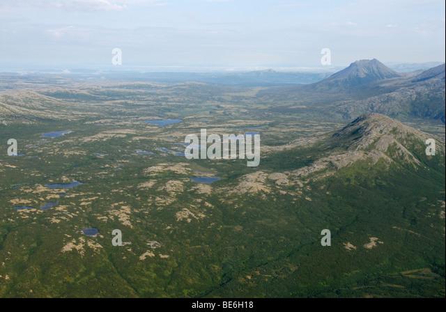 Katmai National Park and Preserve from the air, Alaska. - Stock Image