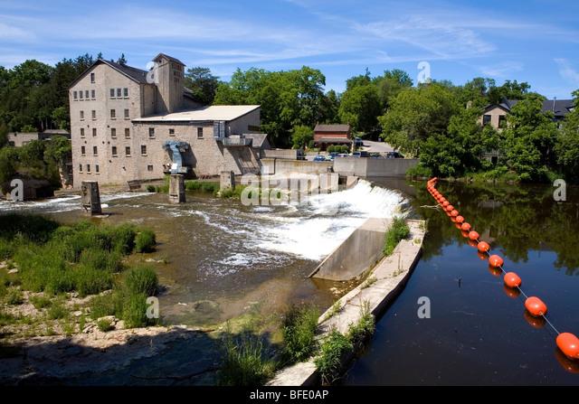 Elora Mill Inn, Elora, Ontario, Canada - Stock-Bilder