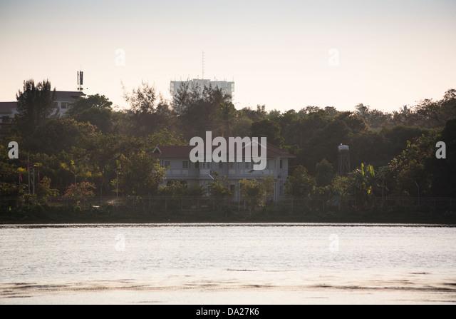 Home of Aung San Suu Kyi, 54 University Avenue, Yangon, (Rangoon), Myanmar, (Burma) - Stock-Bilder