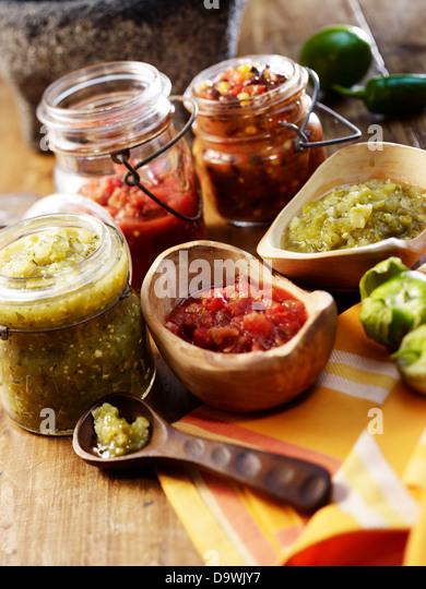 Salsas - Stock Image