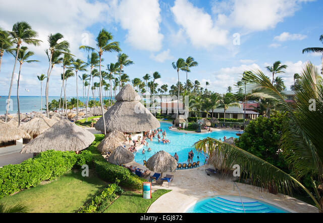 DOMINICAN REPUBLIC. Secrets Royal Beach adults-only resort at Punta Cana beach. 2015. - Stock Image