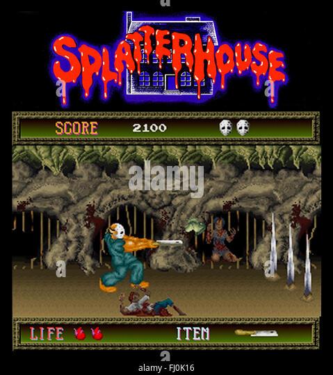 'Splatter House' 1988 Namco. - Stock Image