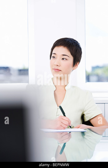 A young asian businesswoman - Stock Image