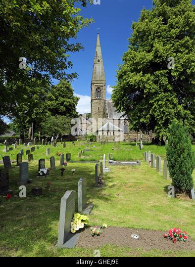 St. John the Baptist parish Church, Bamford, Peak District, Derbyshire, England, UK. - Stock Image