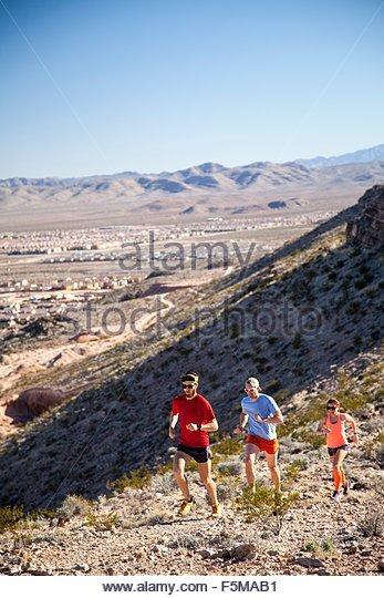 Runners, Las Vegas, Nevada, USA - Stock Image