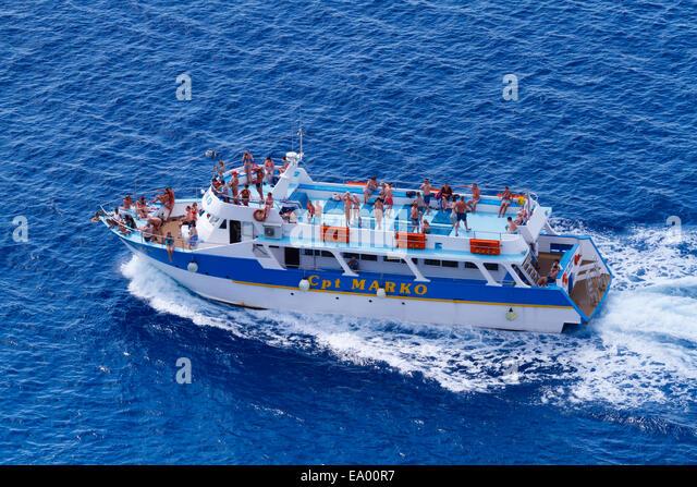 Cpt Marko cruise ship from Ayia Napa off Cape Greco - Stock Image