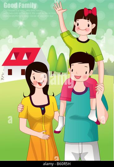 Parents and Teacher - Stock-Bilder