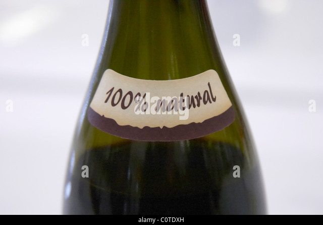 100% natural neck label aronica organic wine poland - Stock Image