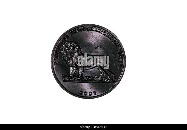 Congolese  50 Centime coin (Democratic Republic) - Stock-Bilder