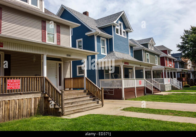 Illinois Decatur house homes off-campus housing for rent renovated - Stock Image