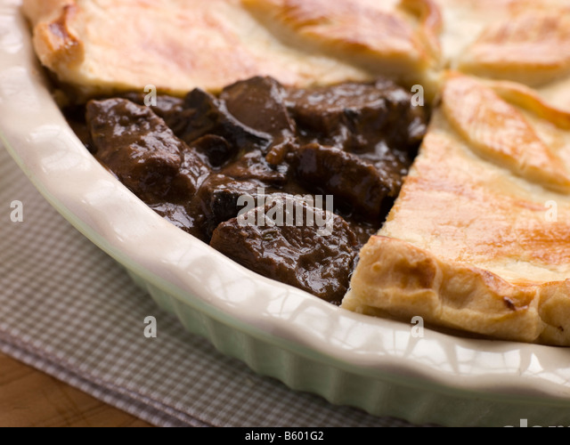 Steak and Ale Pie with Short Crust Pastry - Stock Image