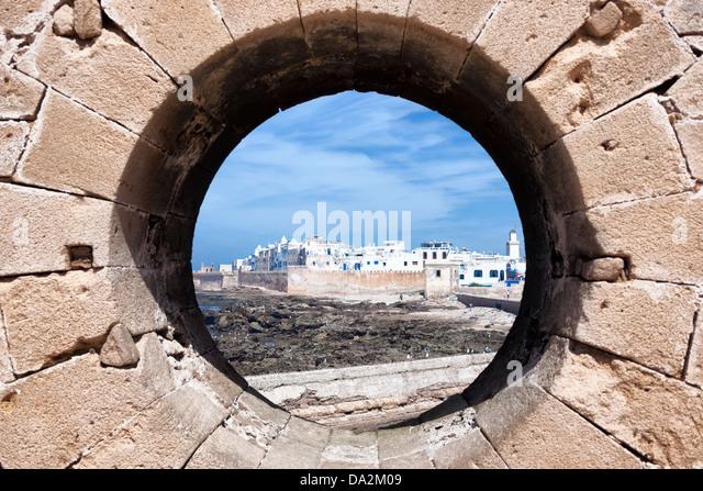View of the coastal town Essaouira on the Atlantic coast. - Stock Image