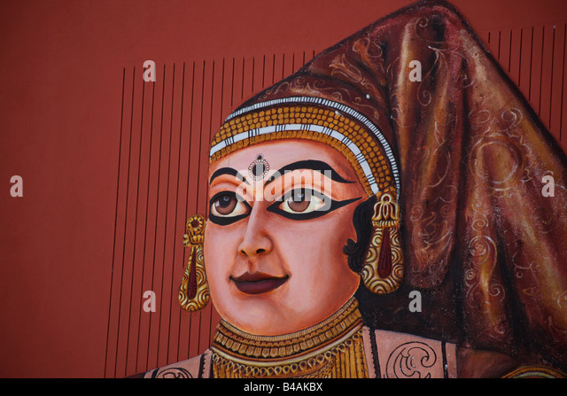 A picture of Damayanti who was  princess of Vidarbha Kingdom - Stock Image