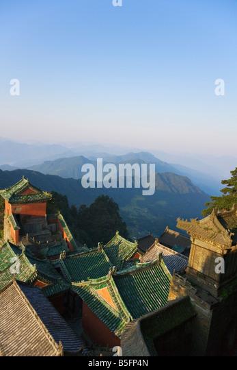 Taoist temple Jinding Scenic Area Mt Wudang Hubei Province China - Stock-Bilder