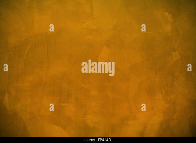 Orange plaster wall surface - Stock Image