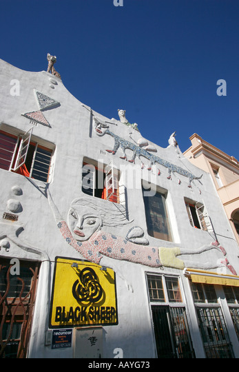 south africa cape town owl house artful facade by Helen Martins - Stock Image
