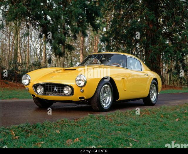 1960 Ferrari 250GT SWB competitzione 3.0 litre V12 Type 168 engine 280 bhp top speed 167 mph. Country of origin - Stock Image