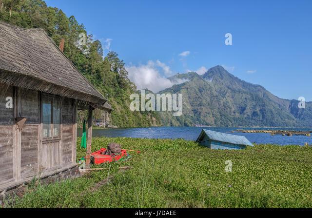 sinking house in Danau Batur, Bali, Indonesia, Asia - Stock-Bilder