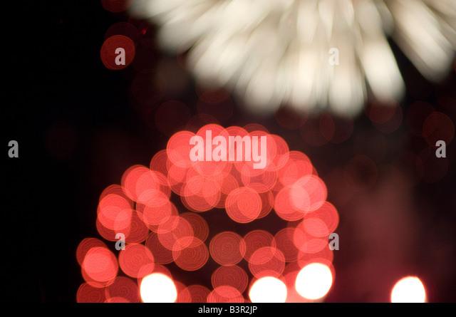 firework blur - Stock Image