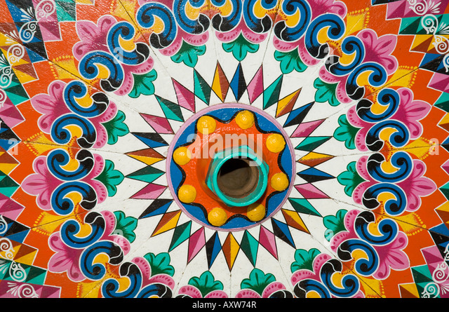 The crafts town of Sarchi famous for its decorative painting and ox carts , Central Highlands, Costa Rica - Stock Image