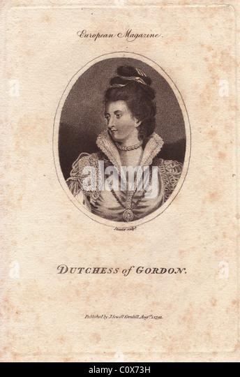 Lady Jane Maxwell (1749-1812), Scottish aristocrat. - Stock Image