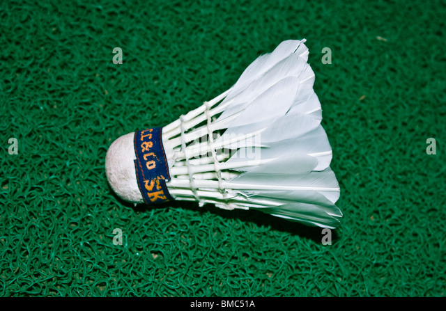 shuttle cock - for playing badminton - Stock Image