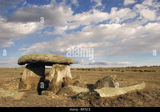 Ancient Dolmens in Thrace Turkey - Stock Image