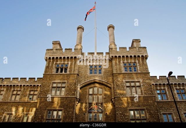 Armoury House, Honourable Artillery Company, City Road, London, England - Stock Image