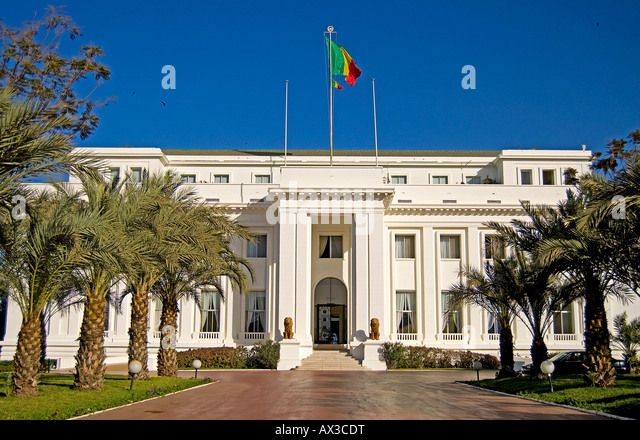 Travel, Senegal, Dakar, Presidential Palace, - Stock Image