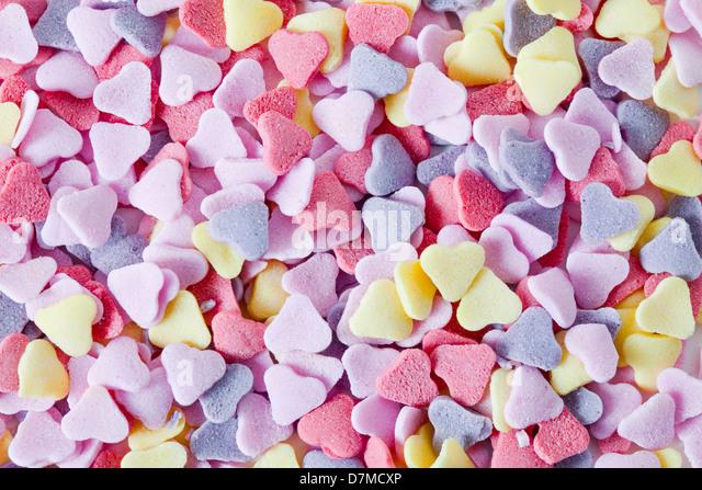 Heart-shaped sweets - Stock-Bilder