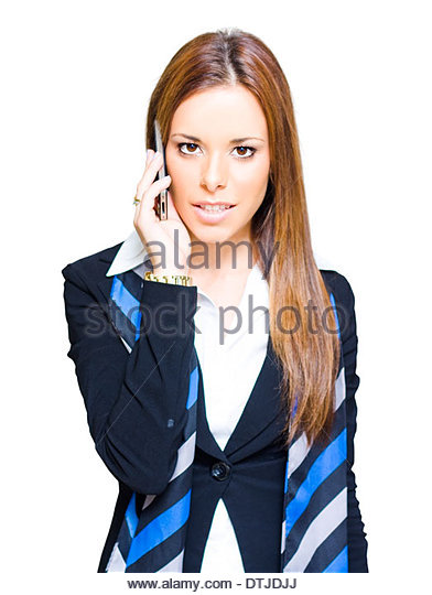 Business Communication Concept With An Attractive Confident Modern Business Woman Taking A Conference Call On A - Stock Image