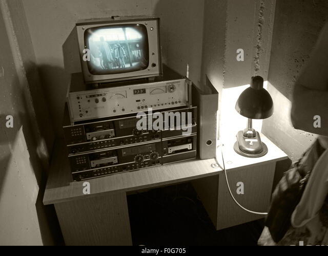 DDR East German security equipment for spying on citizens in Berlin - Stock Image
