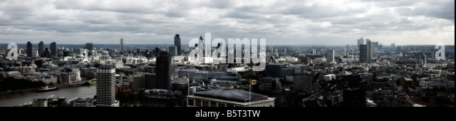 UK London skyline elevated view - Stock Image