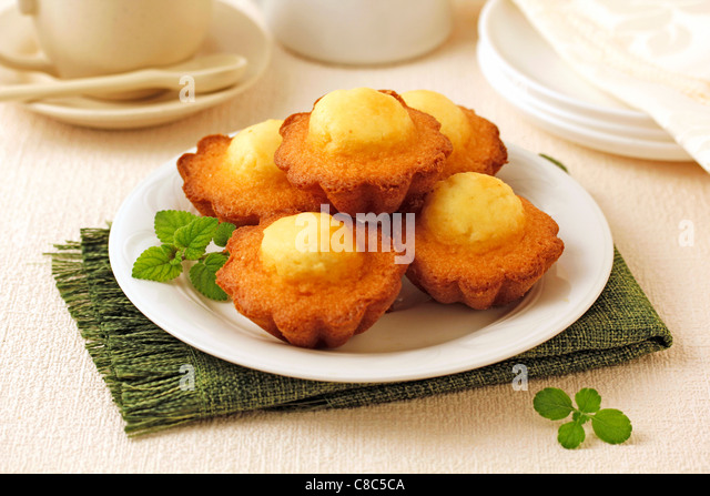 Creamed muffins. Recipe available. - Stock Image