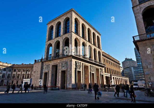 Museum of the Twentieth Century, Palazzo dell'Aregario, restored in 2009 by Italo Rota e Fabio Fornasari Architect, - Stock Image