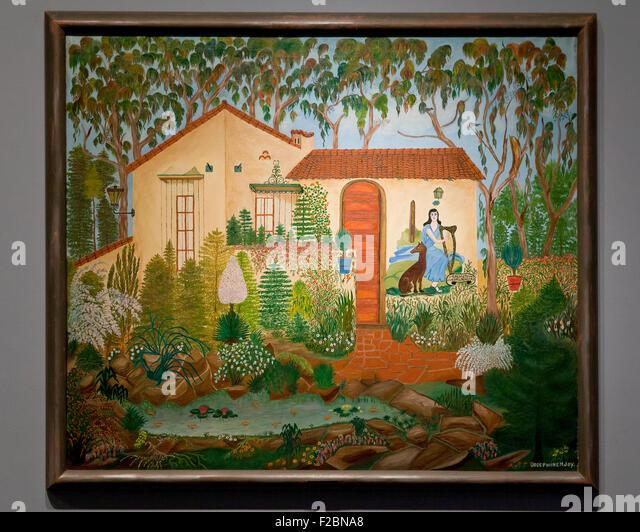 Irish Cottage by Josephine Joy, circa 1935 - Smithsonian National Gallery of Art, Washington, DC USA - Stock Image