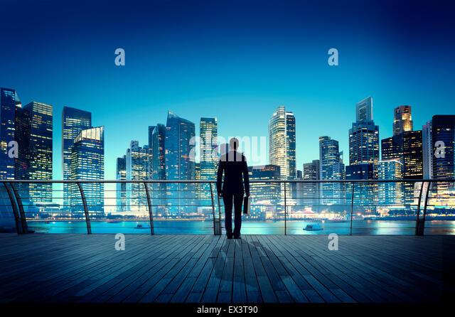 Businessman Corporate Cityscape Urban Scene City Building Concept - Stock-Bilder