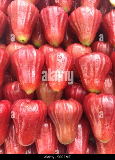 Red rose apple. - Stock Image