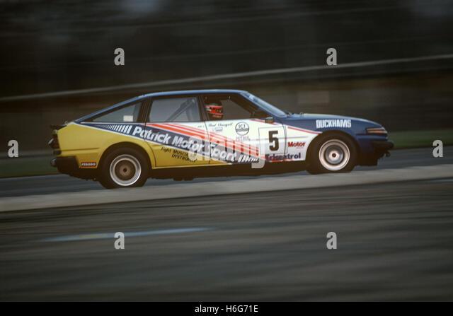 Rover 3500 Patrick Motor Sport Silverstone UK 1980s - Stock Image