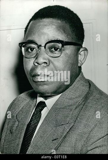 Jun. 25, 1960 - The Belgian Congo, having proclaimed its independence, just named Mr. Joseph Kasa-Vubu Chief of - Stock-Bilder