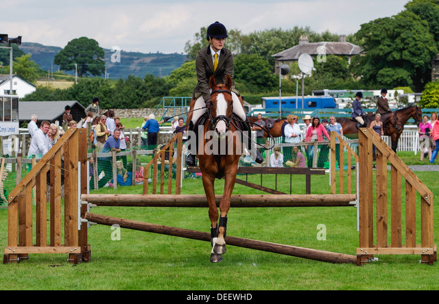 Show Jumping at Cartmel Show 2013 - Stock Image