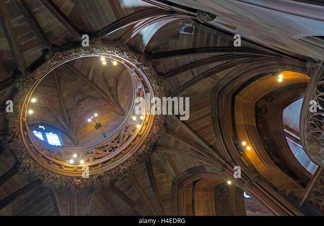 John Rylands Historic Library Ceiling,Deansgate,Manchester,England,UK - Stock Image