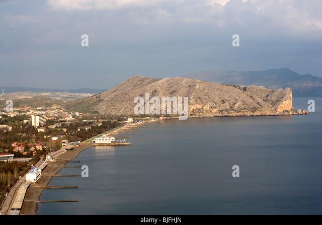 Ukraine,Crimea,Sudak,Black Sea,Coast - Stock Image