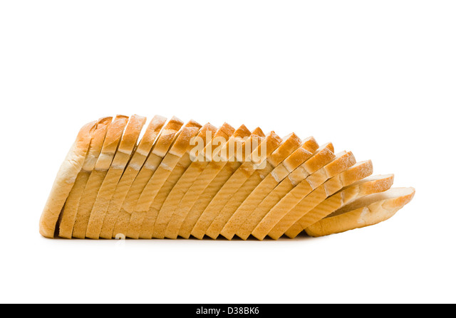 Loaf of sliced white bread. - Stock Image