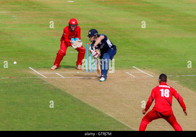 This is the first time Scotland and Hong Kong have met since the 2016 ICC  World T20 in India, where Scotland secured - Stock Image