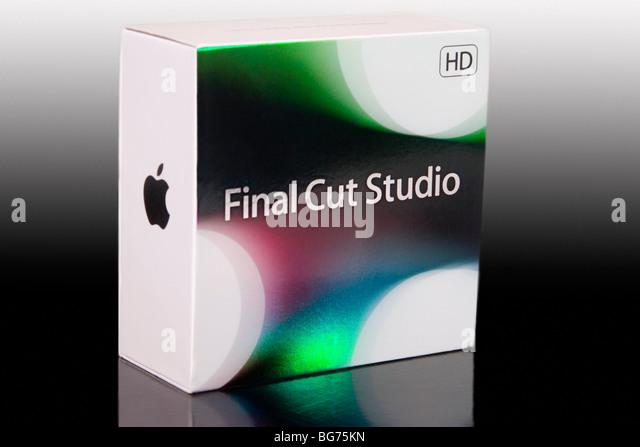'Apple Final Cut Studio', video editing software - Stock Image