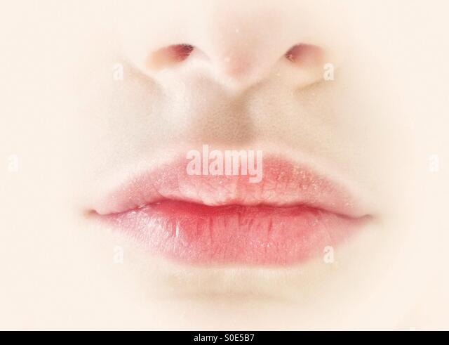 Lips of young girl - Stock-Bilder