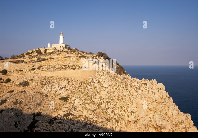 Mallorca Cap Formentor view point lighthouse - Stock Image