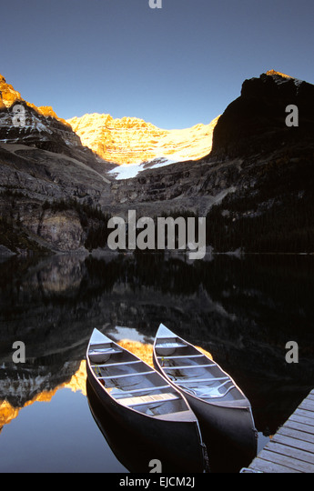 Yoho National Park, Lake O'Hara, British Columbia, - Stock Image